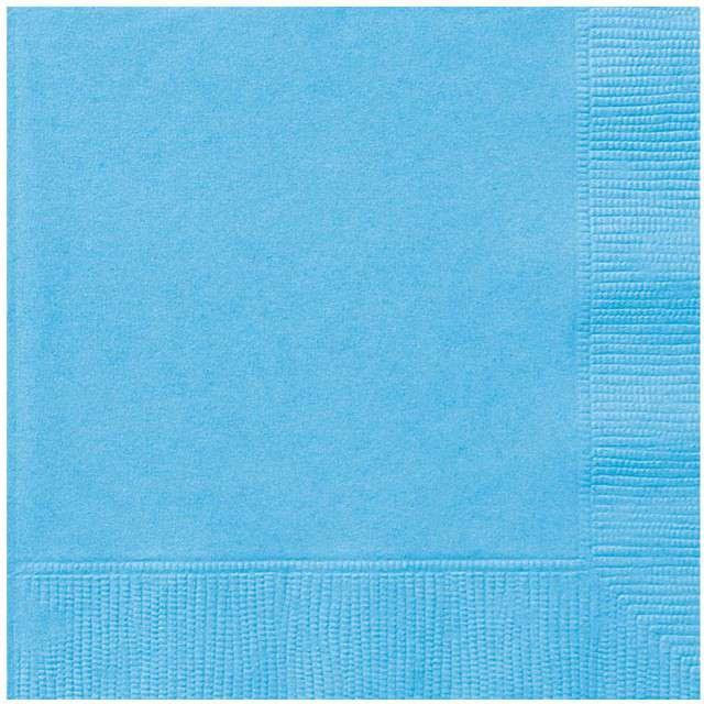 """Serwetki papierowe """"Classic"""", niebieski jasny, UNIQUE, 33 cm, 20 szt"""