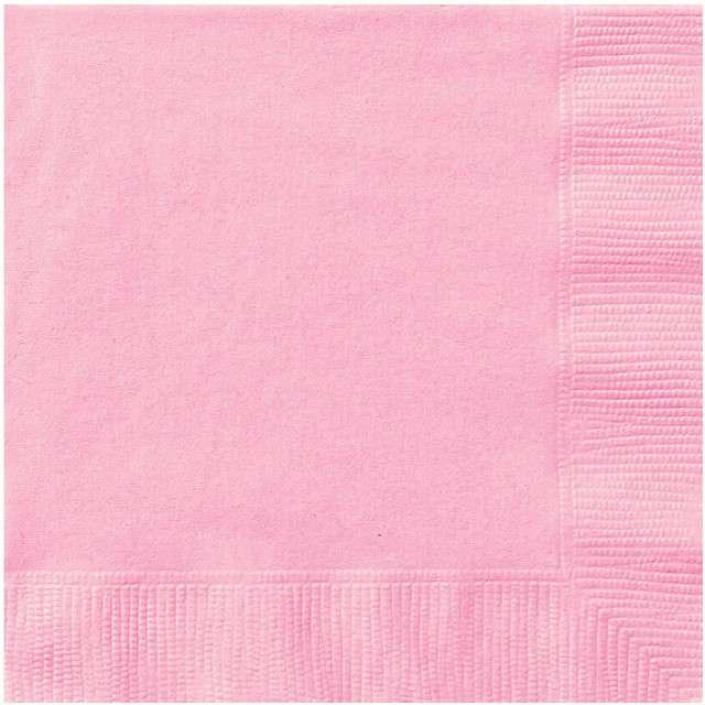 Serwetki papierowe Classic różowy UNIQUE 33 cm 20 szt