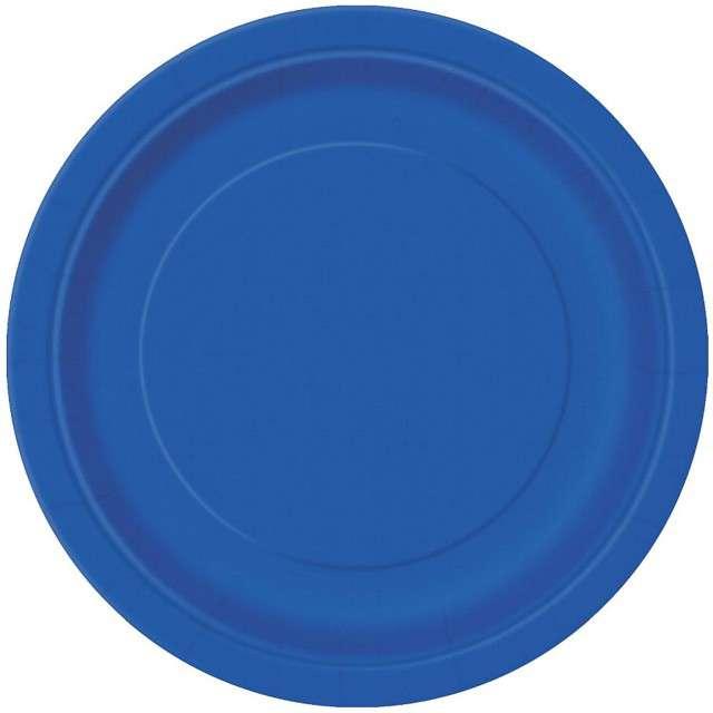 Talerzyki papierowe Classic niebieski UNIQUE 18 cm 8 szt