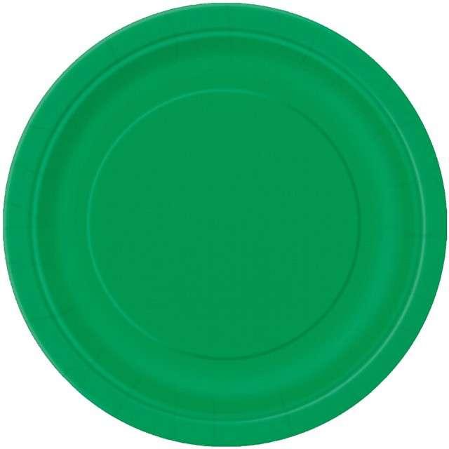 """Talerzyki papierowe """"Classic"""", zielony, UNIQUE, 18 cm, 8 szt"""