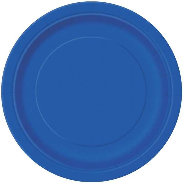 """Talerzyki papierowe """"Classic"""", niebieskie, UNIQUE, 23 cm, 8 szt"""