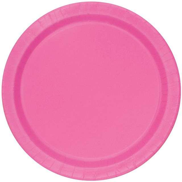 """Talerzyki papierowe """"Classic"""", różowy, UNIQUE, 23 cm, 8 szt"""