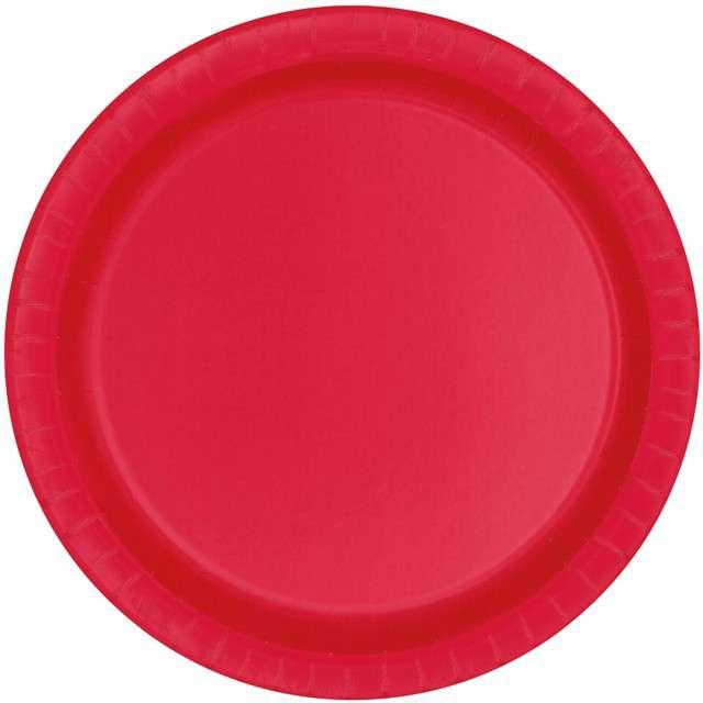 Talerzyki papierowe Classic czerwony UNIQUE 23 cm 8 szt