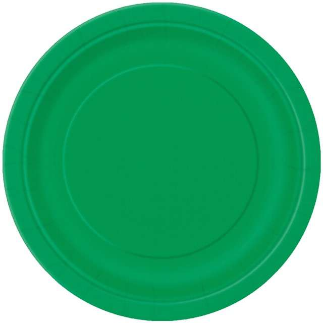 Talerzyki papierowe Classic zielony UNIQUE 23 cm 8 szt