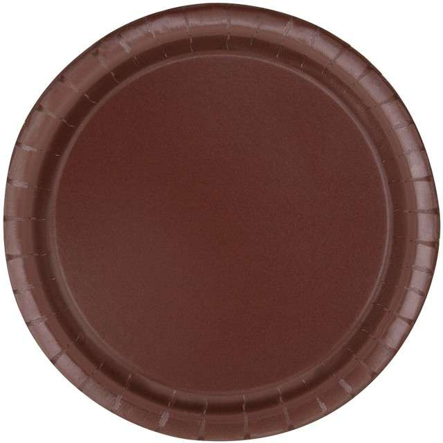 Talerzyki papierowe Classic  brązowy UNIQUE 23 cm 16 szt