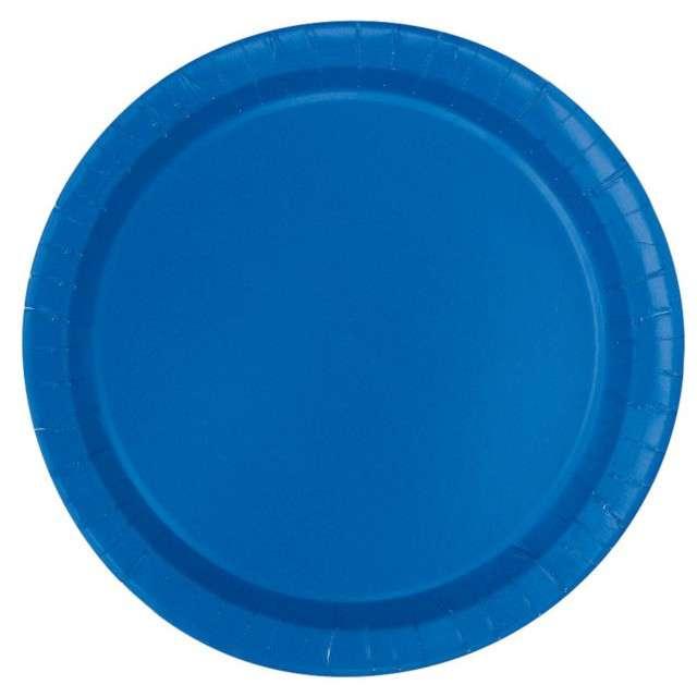 """Talerzyki papierowe """"Classic"""", niebieski, UNIQUE, 23 cm, 16 szt"""