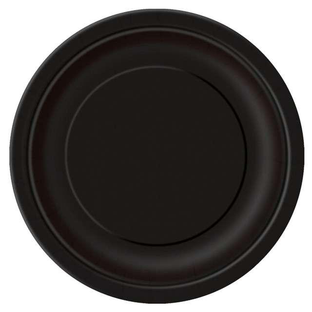Talerzyki papierowe Classic czarne UNIQUE 23 cm 8 szt
