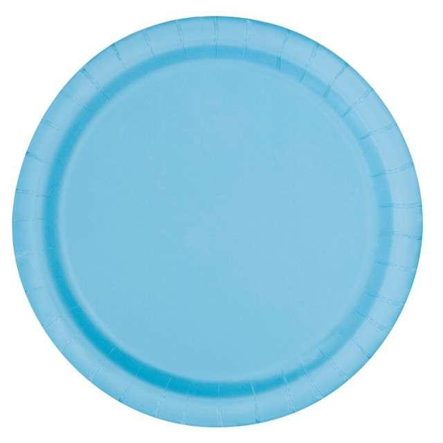 """Talerzyki papierowe """"Classic"""", błękitny, UNIQUE, 18 cm, 20 szt"""