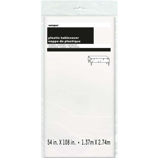 Obrus foliowy Classic biały UNIQUE 275x137 cm