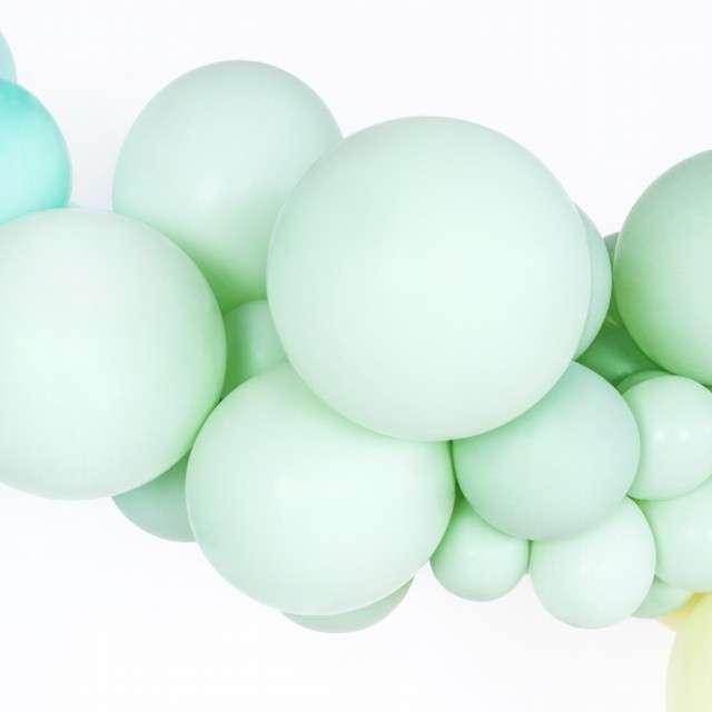 Balony Pastel zielone kiwi 14 BELBAL 100 szt