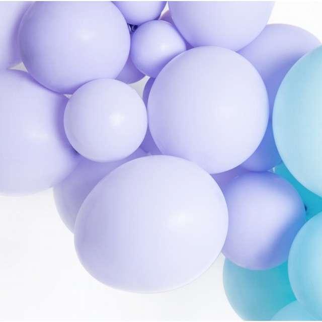 Balony Pastel fioletowe jasne 10 BELBAL 100 szt