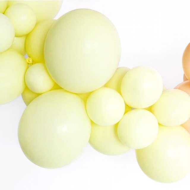 Balony Pastel żółte jasne 12 BELBAL 100 szt