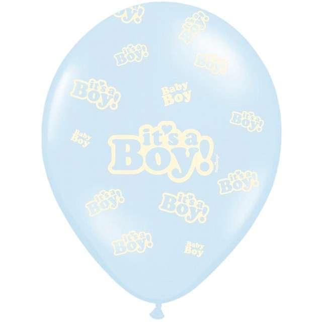 "Balony ""Its a Boy"", pastel niebieski, 12"" STRONG, 50 szt"