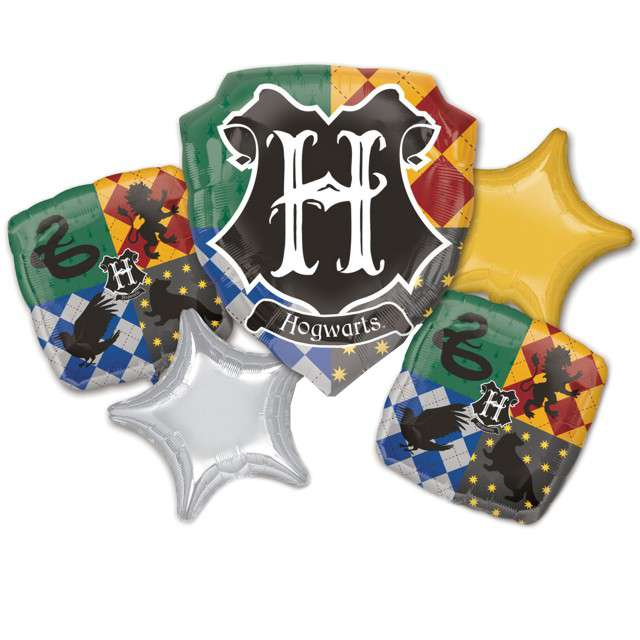 "Balon foliowy ""Harry Potter - Hogwart"", AMSCAN, zestaw"