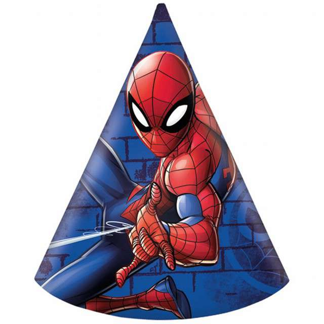 """Czapeczki papierowe """"Spiderman Team Up"""", PROCOS, 6 szt"""
