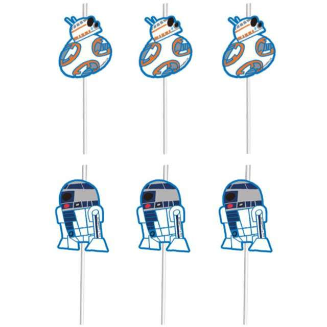 """Słomki """"Star Wars Forces"""", PROCOS, 24 cm, 6 szt"""