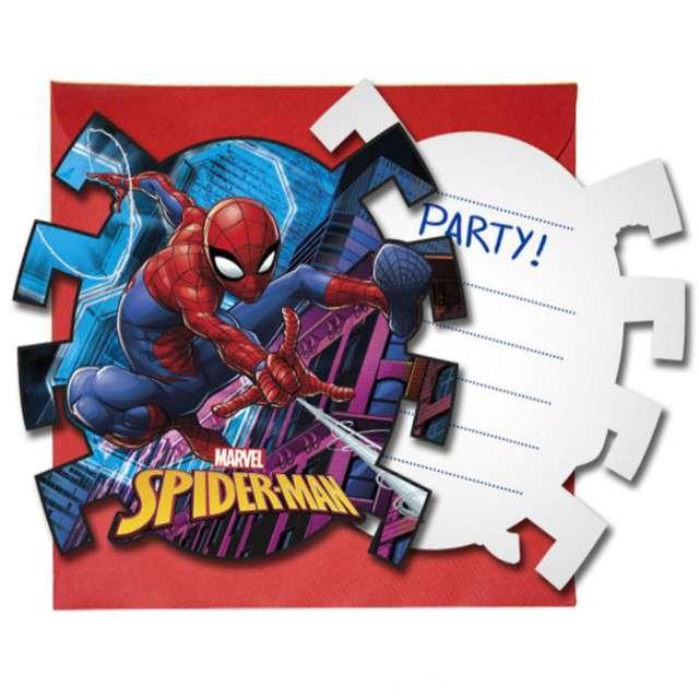 """Zaproszenia urodzinowe """"Spiderman Team Up"""", PROCOS, 6 szt"""