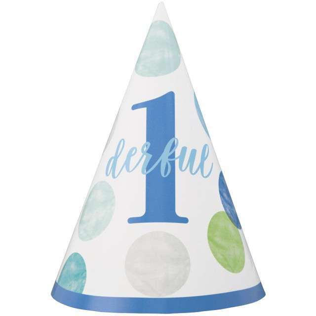"""Czapeczka papierowa """"First Birthday"""", UNIQUE"""