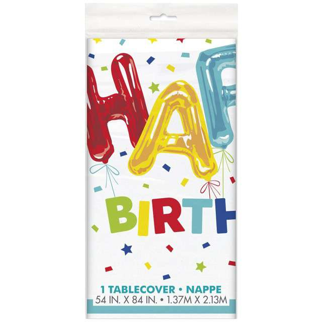 Obrus foliowy Happy Birthday UNIQUE 213x137 cm