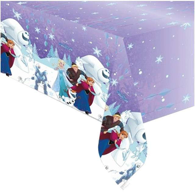 Obrus foliowy Frozen Snowflakes PROCOS 180x120 cm