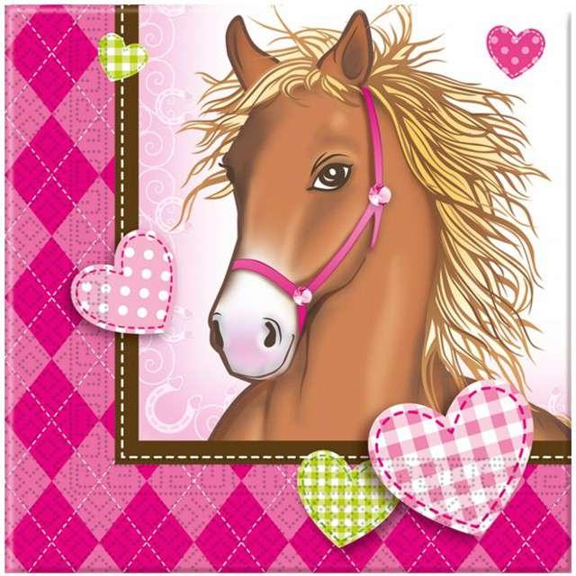 "Serwetki ""Decorata Horses"", PROCOS, 33 cm, 20 szt"