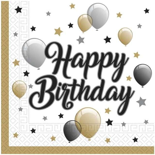 "Serwetki ""Balony - Happy Birthday"", PROCOS, 33 cm, 20 szt"