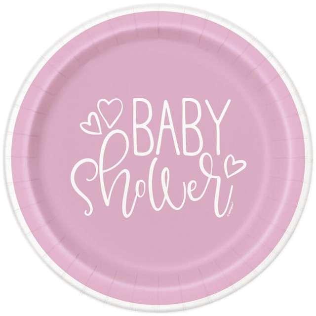 """Talerzyki papierowe """"Baby Shower"""" UNIQUE, 23 cm, 8 szt"""
