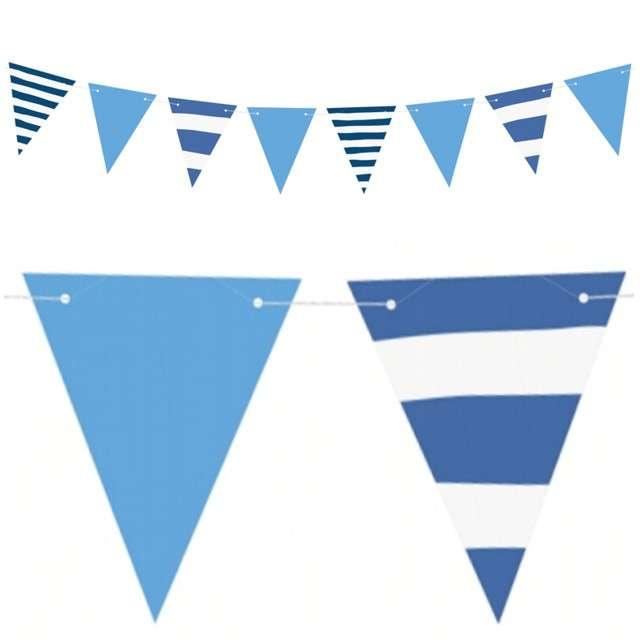 Baner flagi Ahoy - Flagietki mix PartyDeco 130 cm