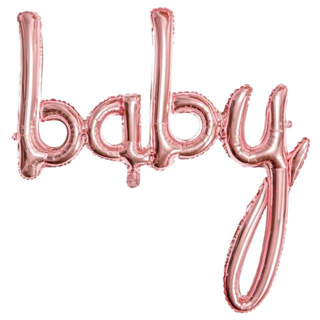 """Balon foliowy """"baby"""", różowy-złoty, PartyDeco, 30"""" SHP"""
