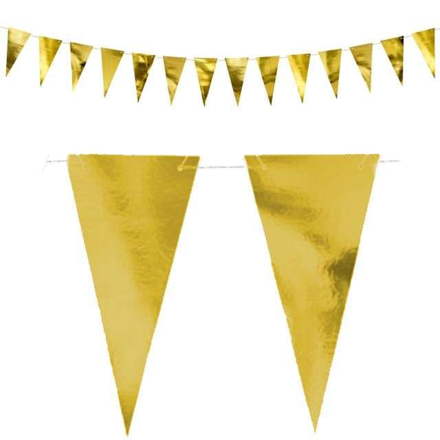 """Baner flagi """"Classic"""", złoty, PartyDeco, 215 cm"""