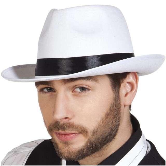 "Kapelusz ""Gangster"", biały, BOLAND"