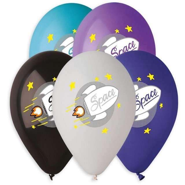 """Balony """"Kosmos"""", mix, Gemar, 13"""", 5 szt"""