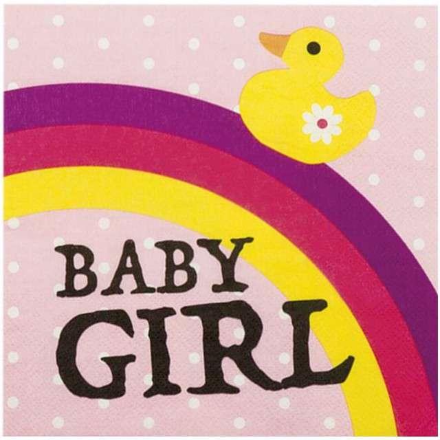 "Serwetki ""Baby Girl"", BOLAND, 33 cm, 12 szt"