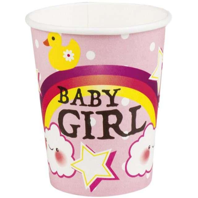 """Kubeczki papierowe """"Baby Girl"""", BOLAND, 250 ml, 6 szt"""