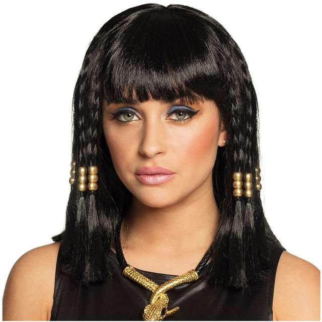 "Peruka party ""Kleopatra"", czarne, BOLAND"