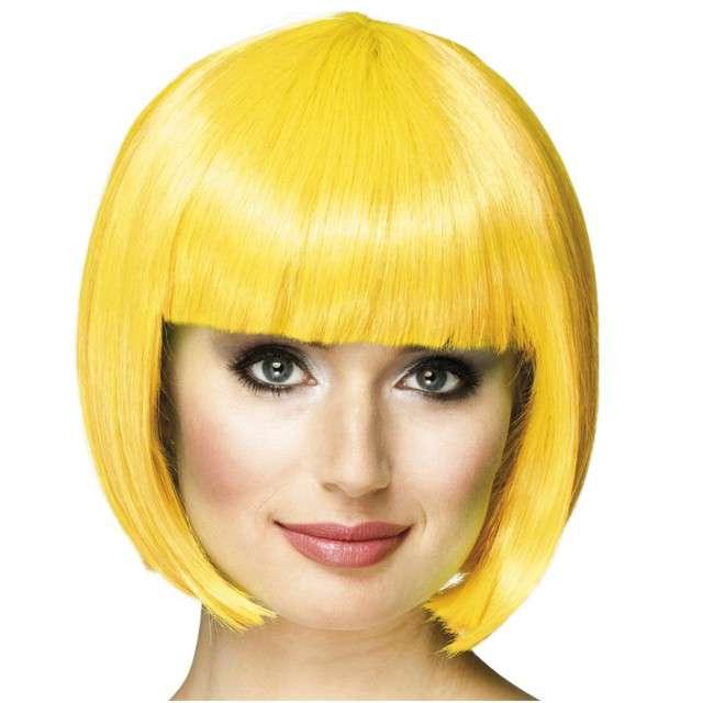 """Peruka party """"Bob z grzywką"""", żółty, BOLAND"""