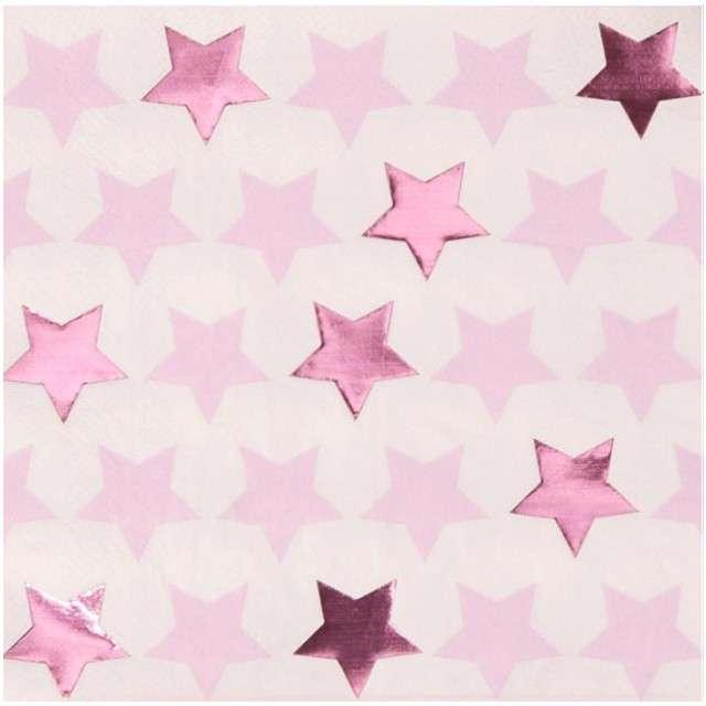 "Serwetki ""Little Star - Pink"", NEVITI, 33 cm, 16 szt"