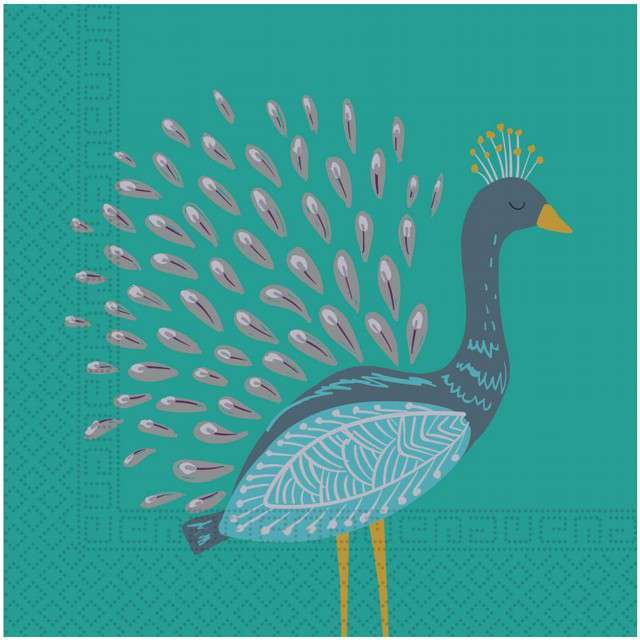 """Serwetki """"Paw - Peacock"""", PROCOS, 33 cm, 20 szt"""