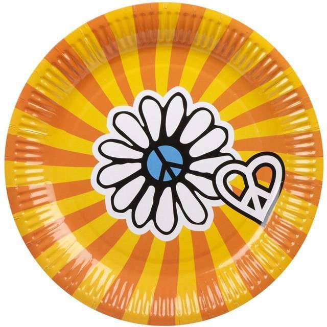 """Talerzyki papierowe """"Hipis - Hippie"""", BOLAND, 23 cm, 6 szt"""