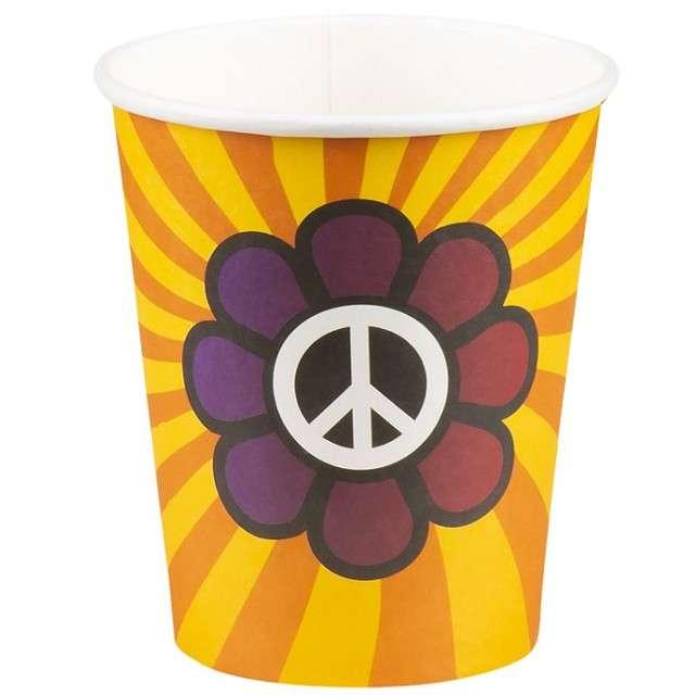 "Kubeczki papierowe ""Hipis - Hippie"", BOLAND, 250 ml, 6 szt"