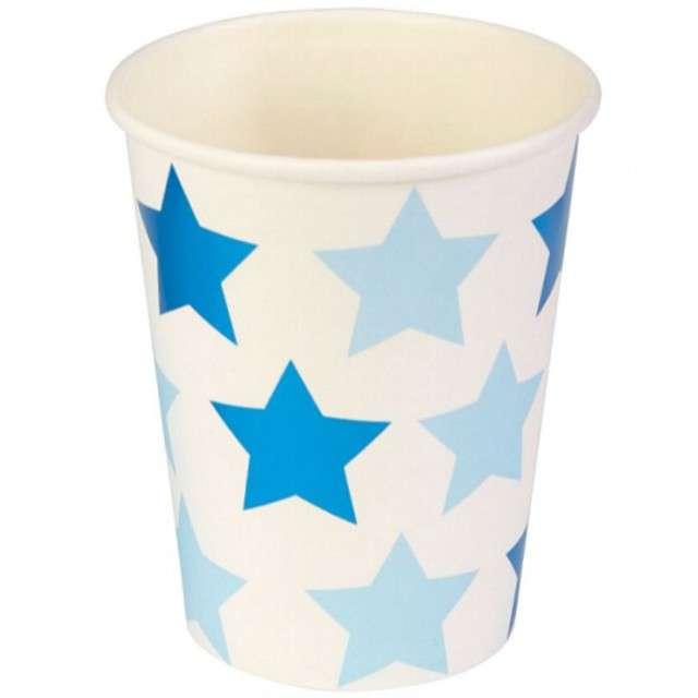 "Kubeczki papierowe ""Little Star - Blue"", NEVITI, 200 ml, 8 szt"