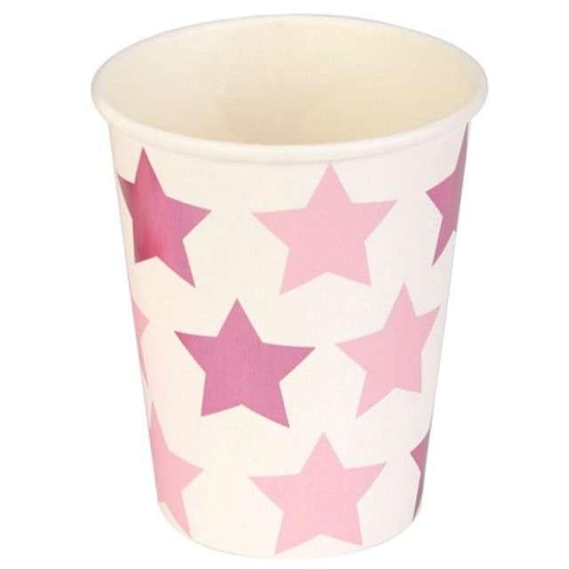"""Kubeczki papierowe """"Little Star - Pink"""", NEVITI, 200 ml, 8 szt"""