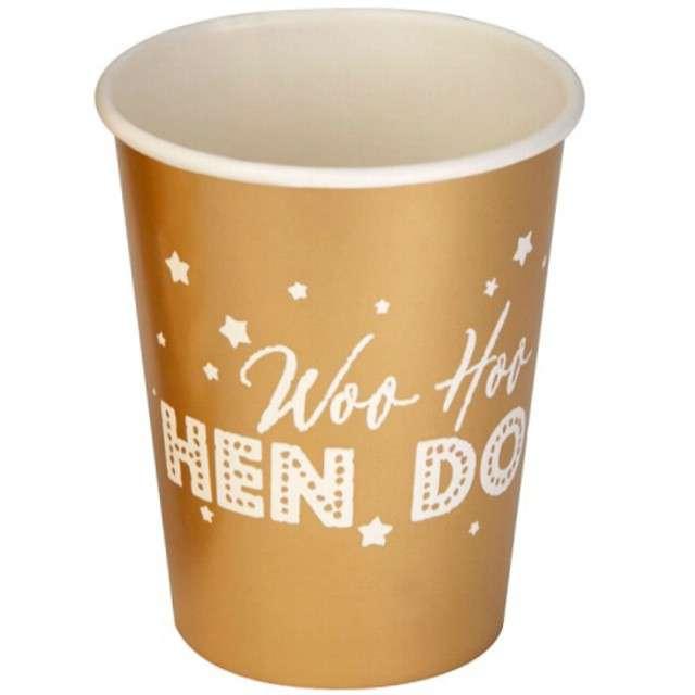 """Kubeczki papierowe """"Woo Hoo Hen Do - Panieński"""", NEVITI, 200 ml, 8 szt"""