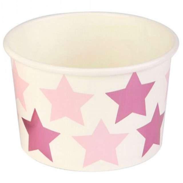 """Kubeczki do lodów """"Little Star - Pink"""", NEVITI, 200 ml, 8 szt"""