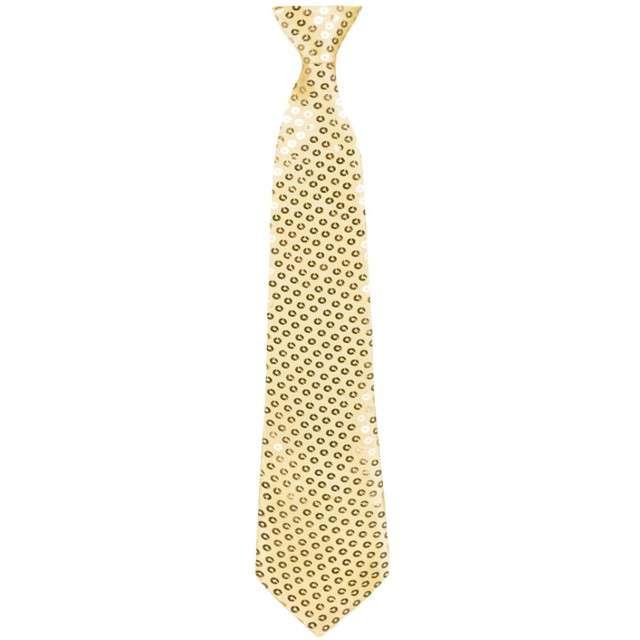 """Krawat """"Shiny"""", złoty, BOLAND"""