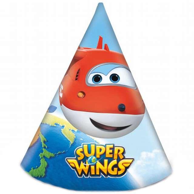 """Czapeczki papierowe """"Super Wings"""", PROCOS, 6 szt"""
