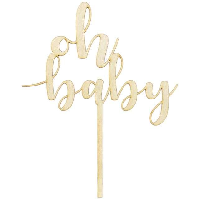 """Dekoracja na tort """"Oh Baby"""", PartyDeco, 17 cm"""