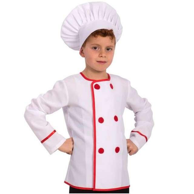 """Strój dla dzieci """"Szef Kuchni - Kucharz"""", Carnival Toys, rozm. 4-8 lat"""