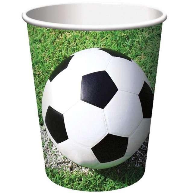 """Kubeczki papierowe """"Kokliko Football Party"""", Procos, 200 ml, 8 szt"""