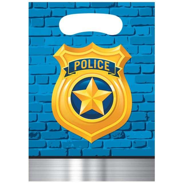 "Torebki foliowe ""Policja - Police Party"", CreativeConverting, 8 szt"